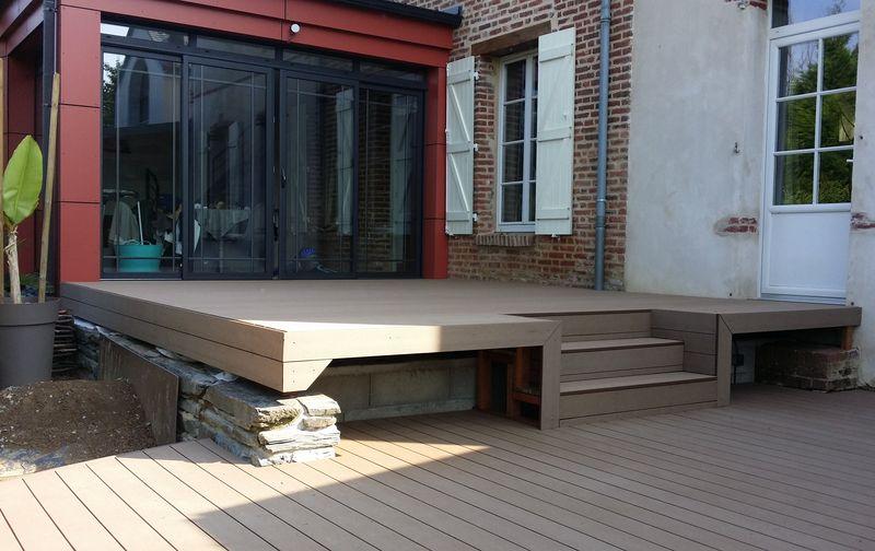 Création Terrasse Composite Rennes Pose Réalisation travaux Mélange ...
