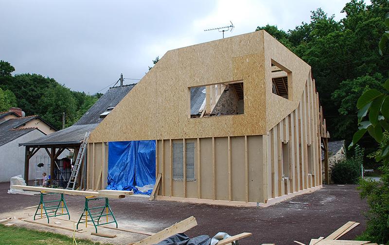 Célèbre Surélévation Ossature Bois Rennes Charpentier Maison Habitat  JQ51