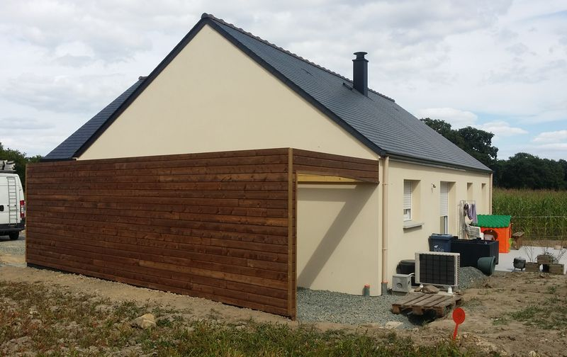 Carport bois rennes abris voiture garage pose cr ation for Garage en bois autoclave