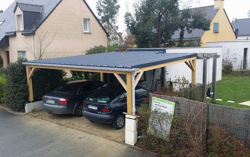 carport bois rennes abris voiture garage pose cr ation r alisation fabrication charpentier. Black Bedroom Furniture Sets. Home Design Ideas